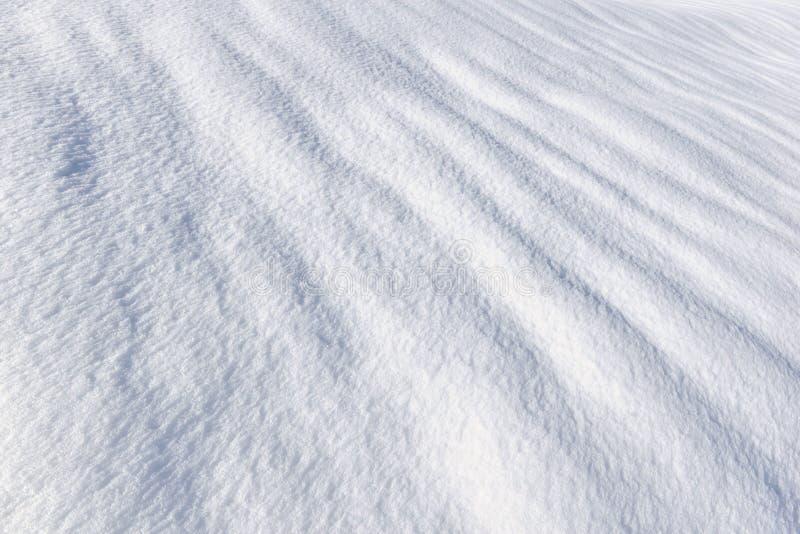 La superficie texturizó de nieve fresca imagen de archivo libre de regalías