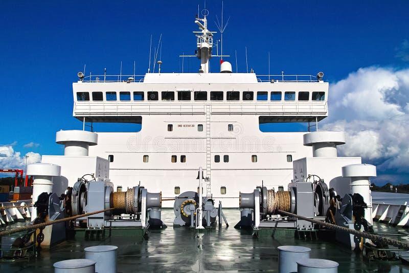 la superstructure du navire photo libre de droits