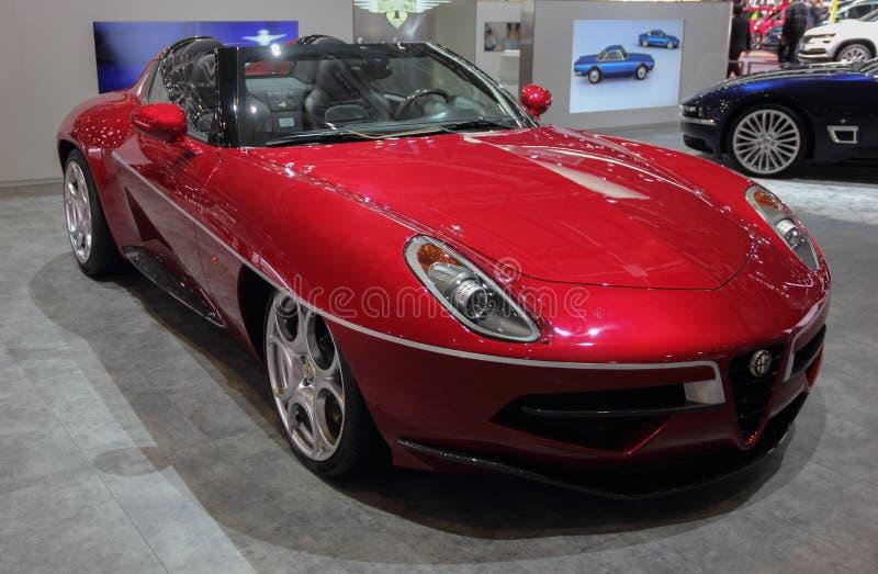 La Svizzera; Ginevra; 8 marzo 2018; Alfa Romeo Disco Volante Spy fotografia stock libera da diritti
