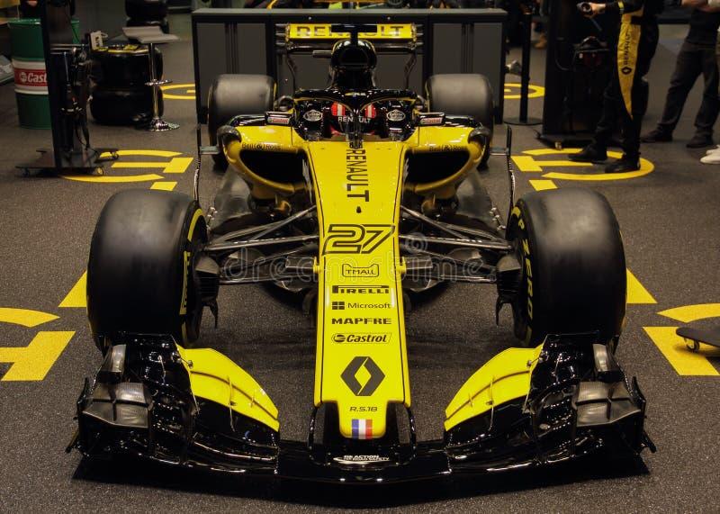 La Svizzera; Ginevra; 8 marzo 2018; Parte anteriore di Renault F1 RS18; I 8 fotografia stock