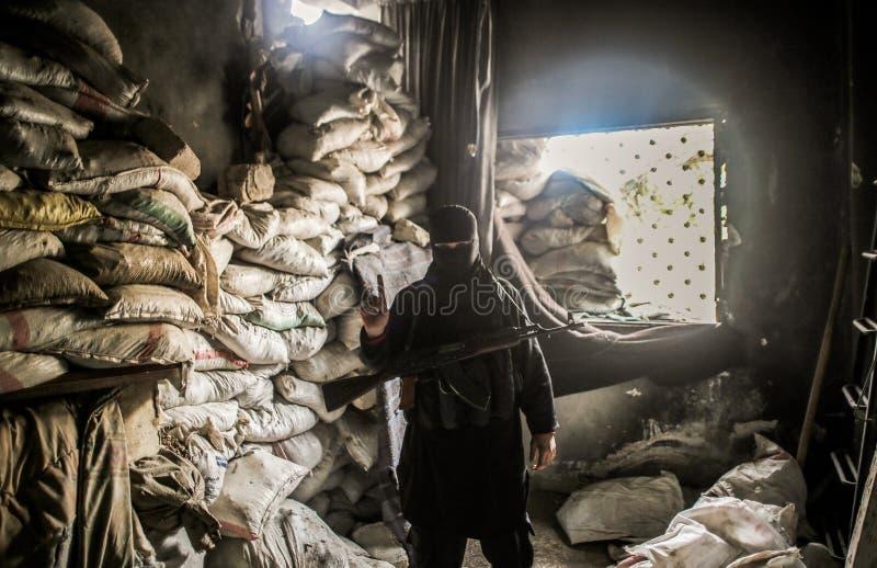 La Syrie : Al-Quaida à Alep image libre de droits