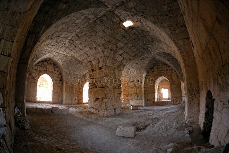 La Syrie - château de Saladin (vacarme d'annonce de Qala'at Salah) images libres de droits