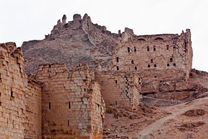 La Syrie - Halabia, ville de Zenobia photographie stock