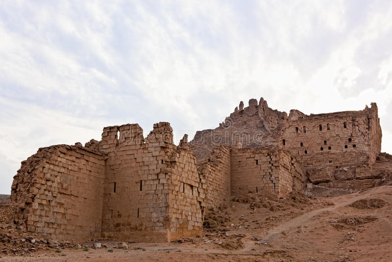 La Syrie - Halabia, ville de Zenobia image libre de droits