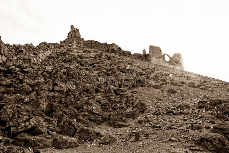 La Syrie - Halabia, ville de Zenobia image stock