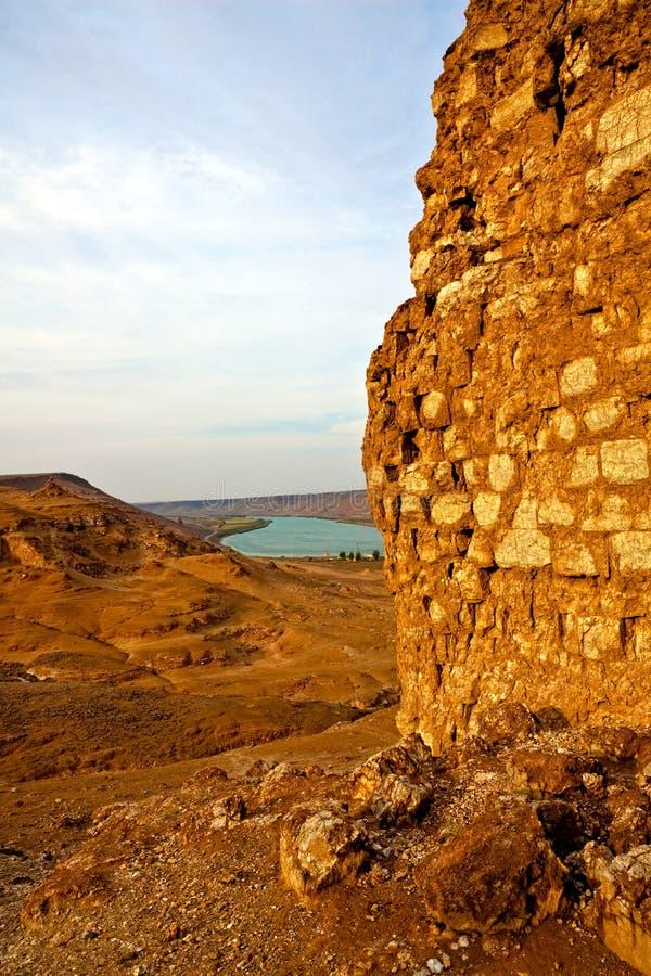 La Syrie - Halabia, ville de Zenobia photos libres de droits