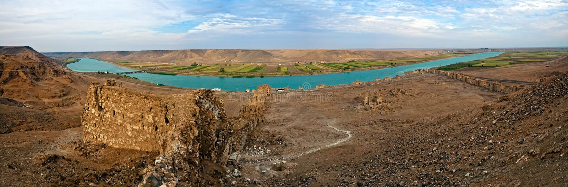 La Syrie - Halabia, ville de Zenobia photo stock