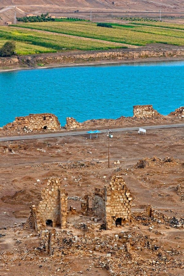 La Syrie - Halabia, ville de Zenobia images stock