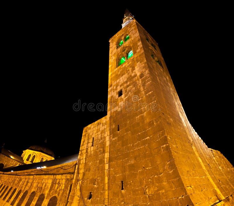La Syrie - la tour de mosquée d'Umayyad à Damas image libre de droits