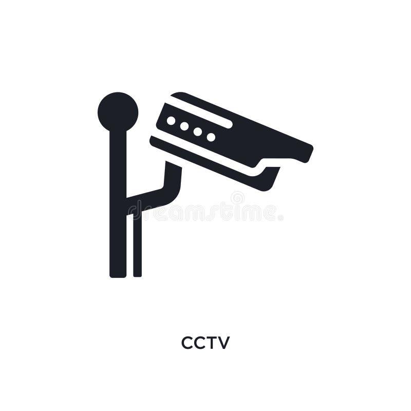 la télévision en circuit fermé a isolé l'icône illustration simple d'élément des icônes electrian de concept de connexions concep illustration de vecteur