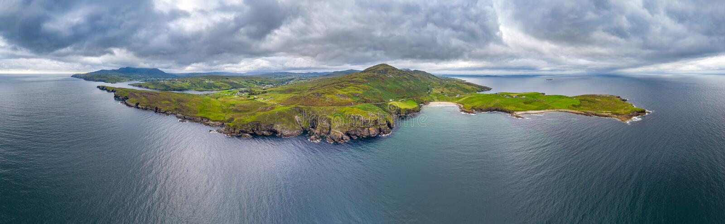 La tête de Mucross est une petite péninsule environ 10km à l'ouest de Killybegs dans le comté le Donegal en Irlande du nord-ouest photographie stock libre de droits