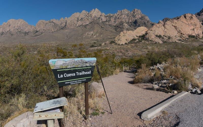 La tête de traînée de Cueva de La dans le sud-ouest Nouveau Mexique image libre de droits