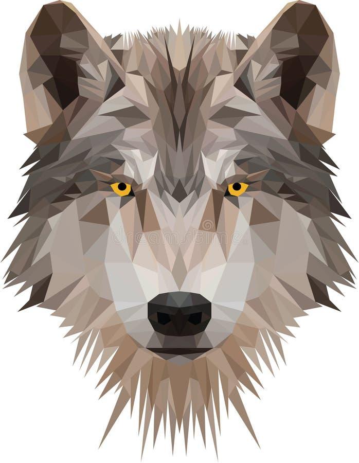 La tête du bas poly loup photo libre de droits