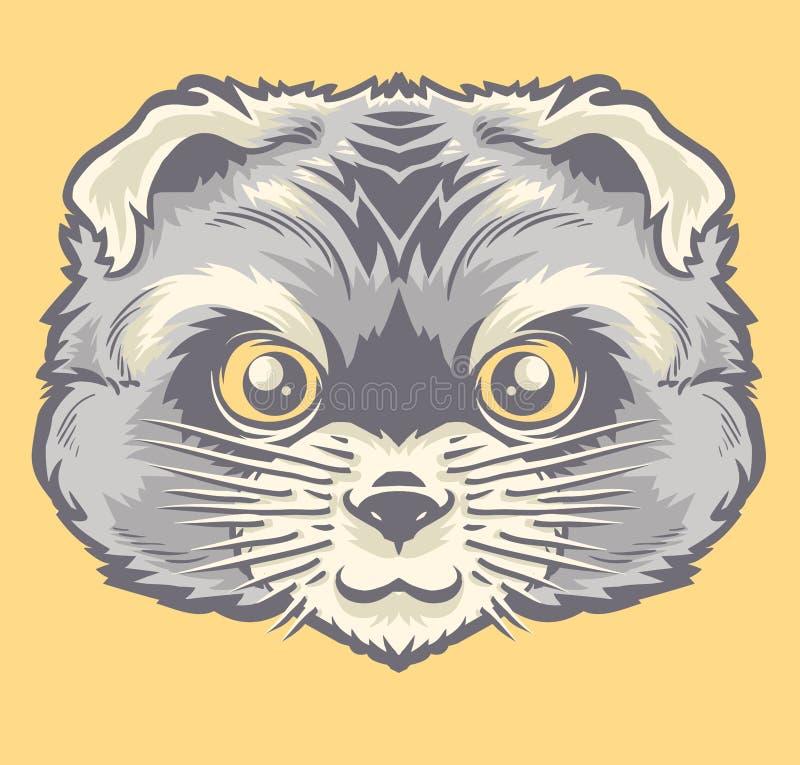 La tête du chat persan image libre de droits