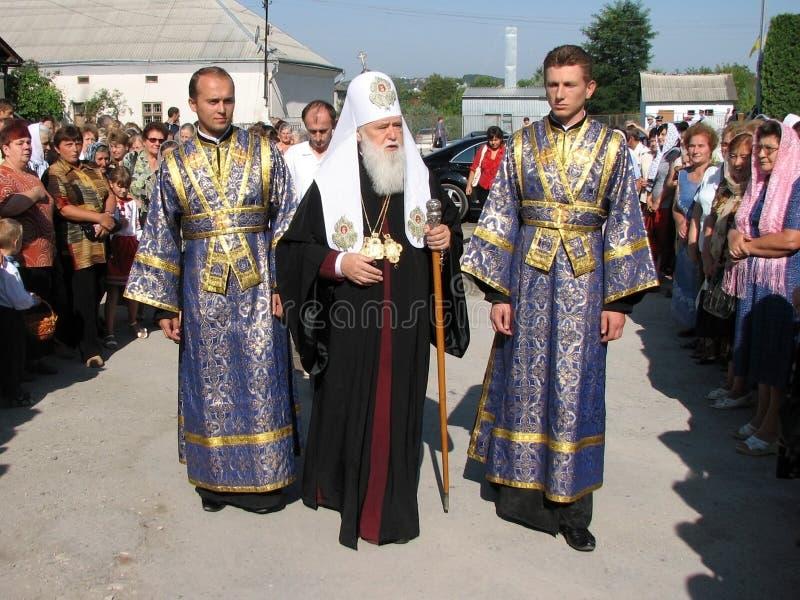 La tête du patriarcat ukrainien Fila de Kiev d'église orthodoxe photo stock