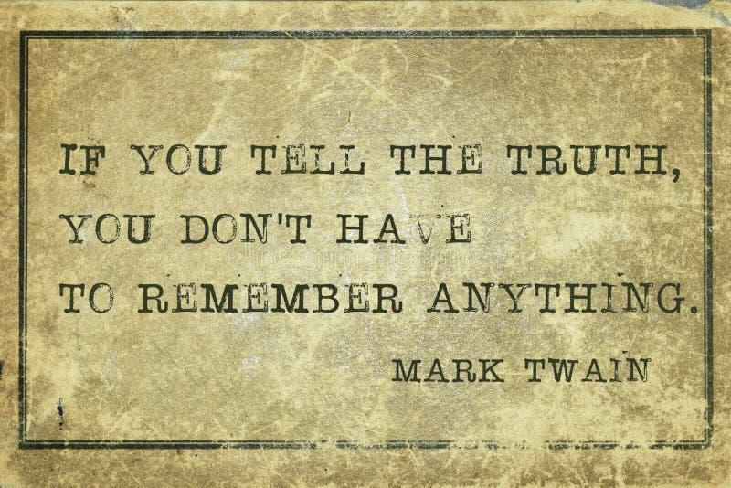 La TA di verità immagine stock libera da diritti