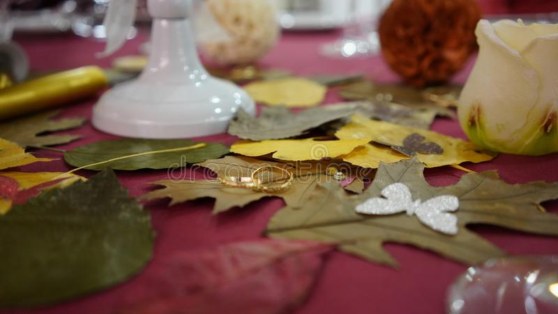 La tabla de la boda imagenes de archivo