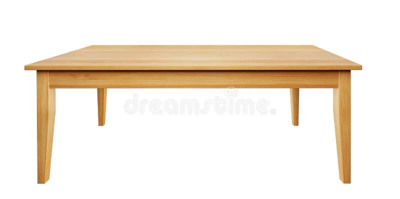 La tabla de madera aislada en el fondo blanco con la trayectoria de recortes incluyó, 3D rinde libre illustration