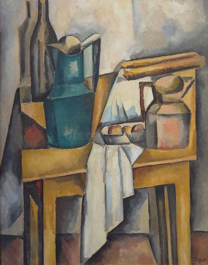 """' La table"""" do morteÃ da natureza; , André Derain, 1910 Musée d' Arte de moderno la ville de Paris, palais de Tóquio foto de stock royalty free"""