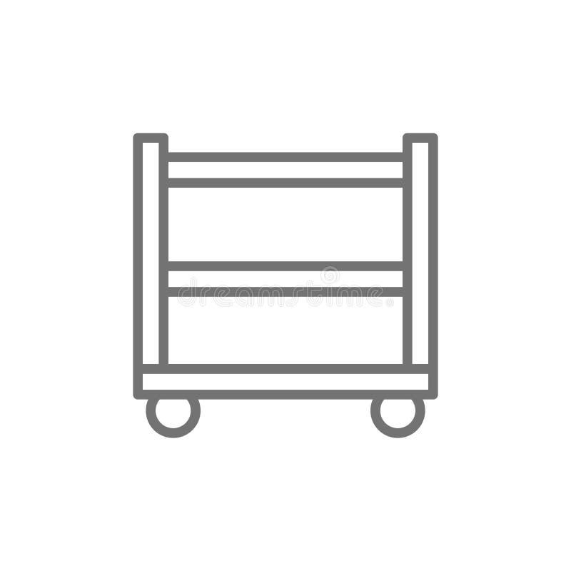 La table en métal pour les outils de soudure rayent l'icône illustration de vecteur