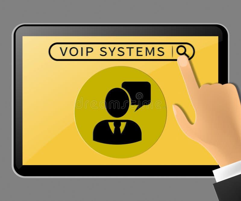 La tableta de los sistemas de Voip representa el ejemplo de la voz 3d de Internet libre illustration