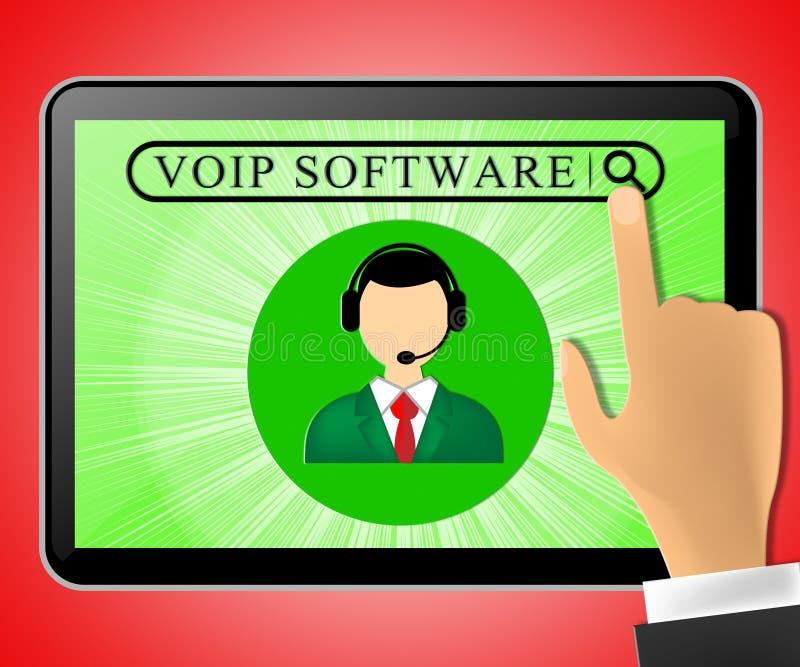 La tableta del software de Voip representa el ejemplo de la voz 3d de Internet libre illustration