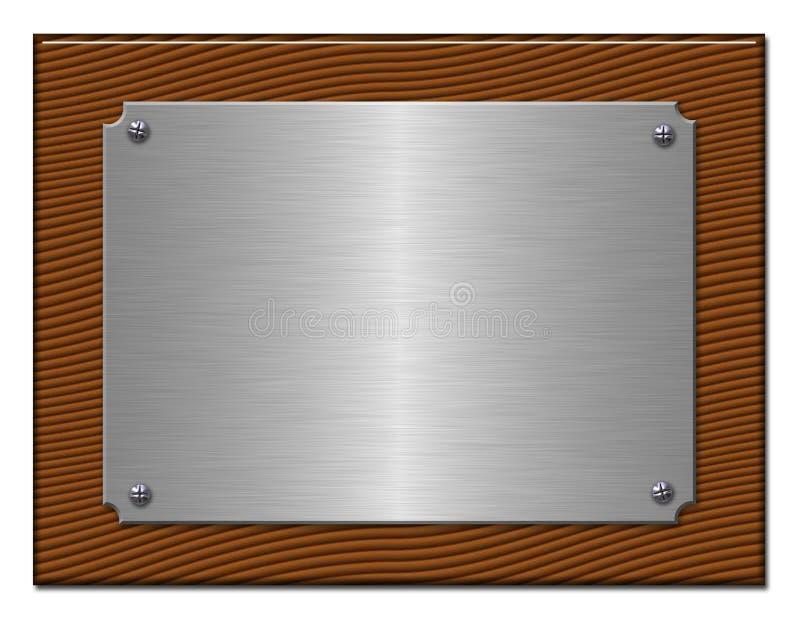 La tablette du métal argenté. illustration libre de droits