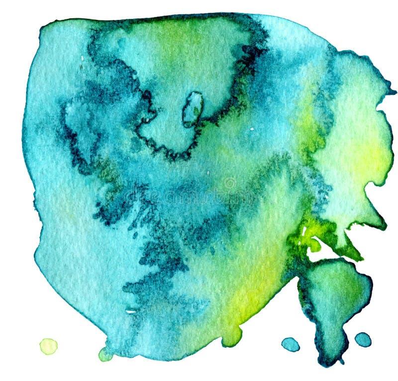 La tache abstraite color?e de texture d'aquarelle avec ?clabousse et ?clabousse photos libres de droits