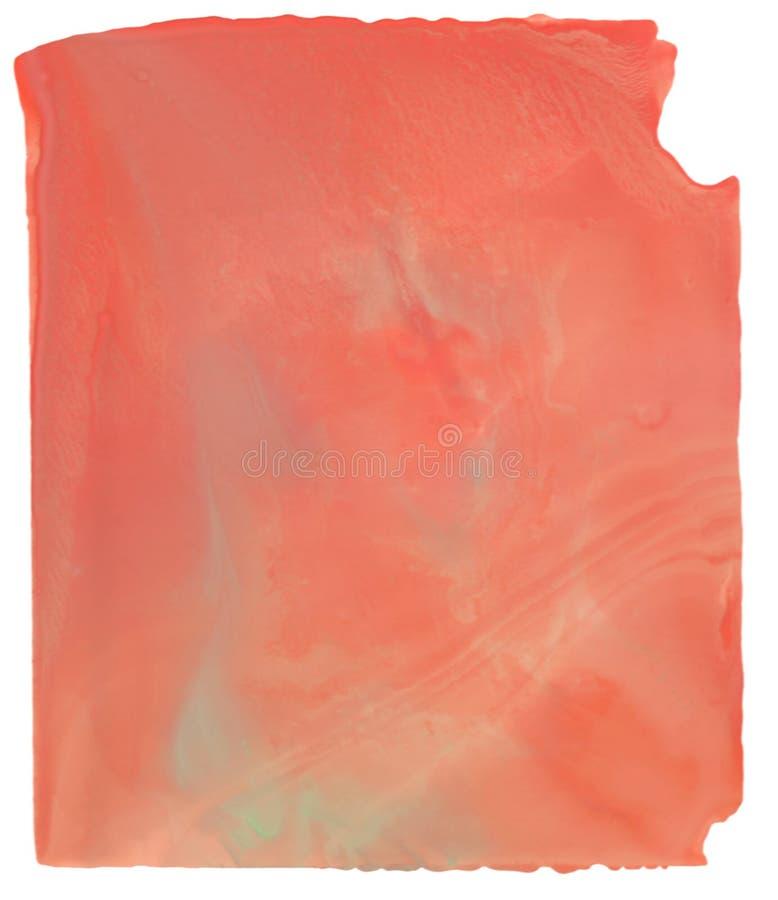 La tache rouge abstraite d'aquarelle avec éclabousse et éclabousse photo libre de droits
