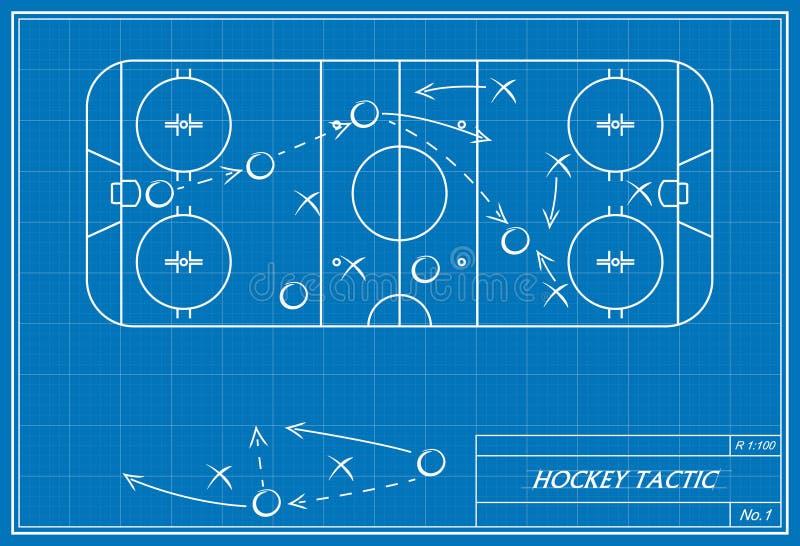La tactique d'hockey sur le modèle illustration de vecteur