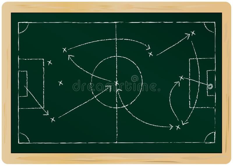 La tactique du football illustration stock