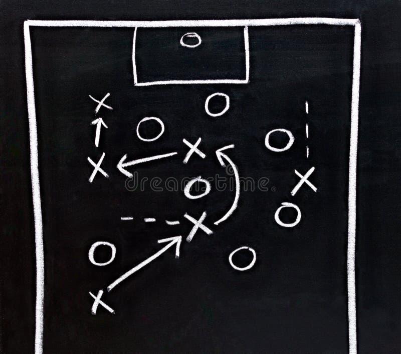 La tactique du football image libre de droits