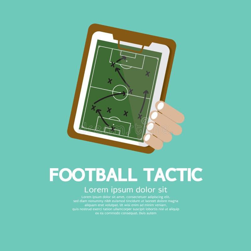 La tactique du football. illustration stock