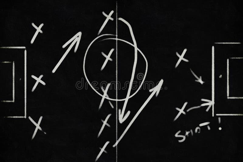 La tactique et plan du football illustration stock