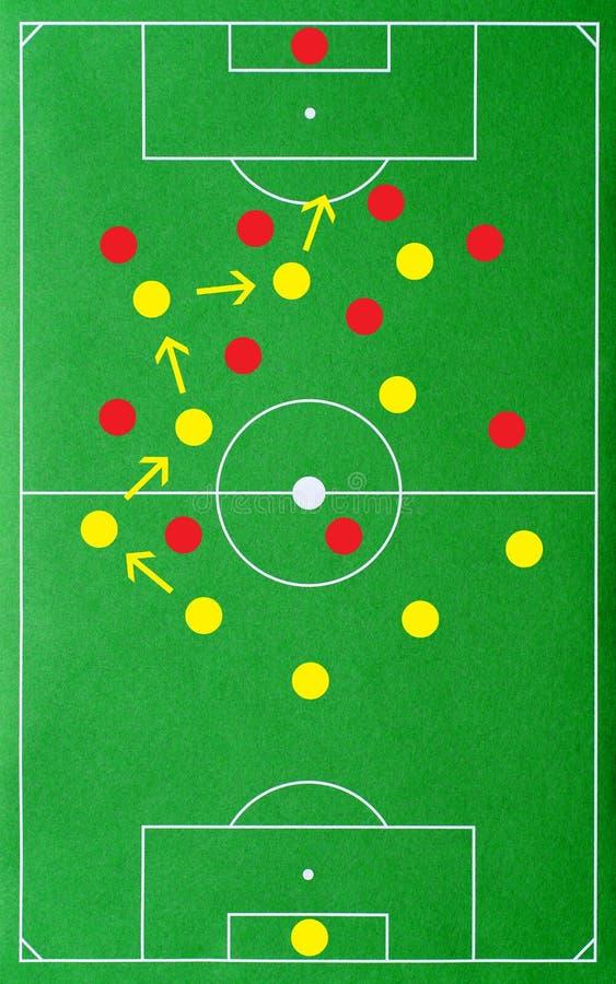 La tactique réussie du football photographie stock