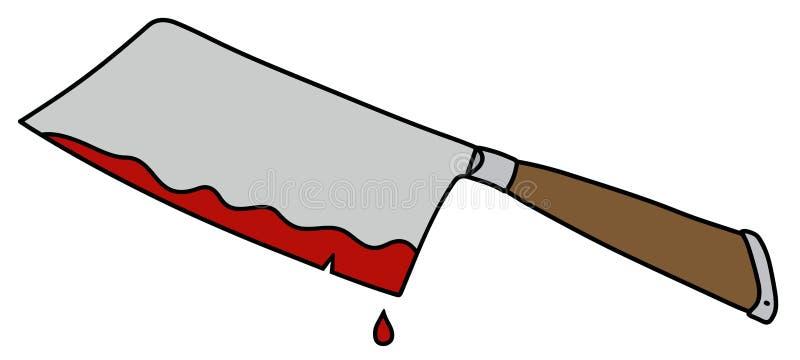 La taglierina divertente della carne illustrazione vettoriale