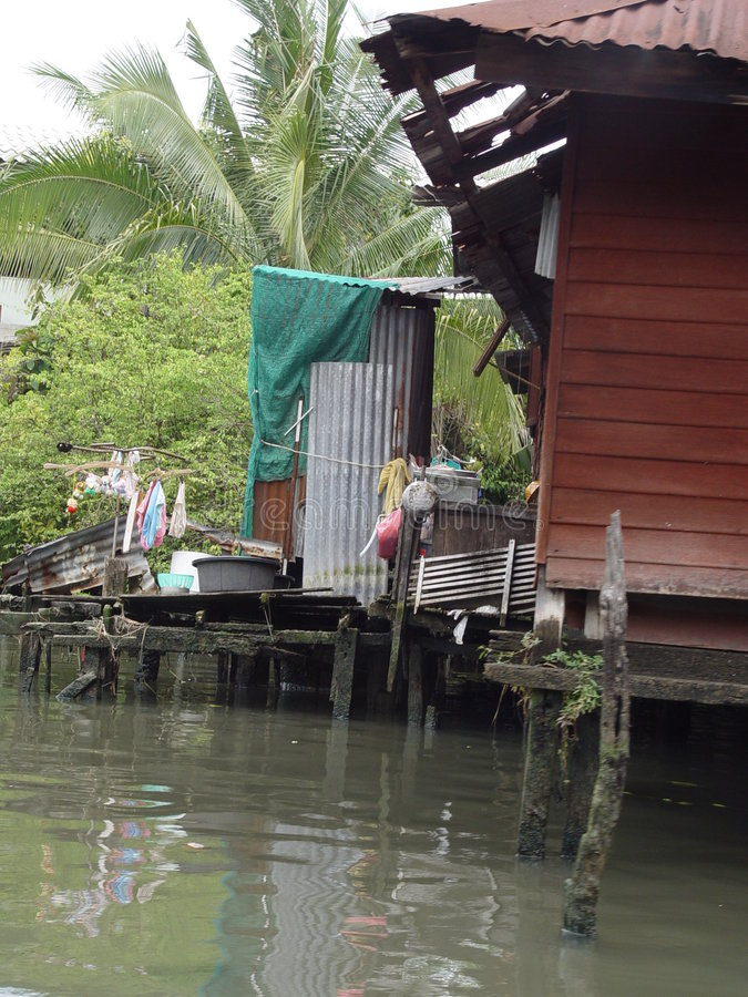 La Tailandia Bangkok - Camera di Klong fotografia stock