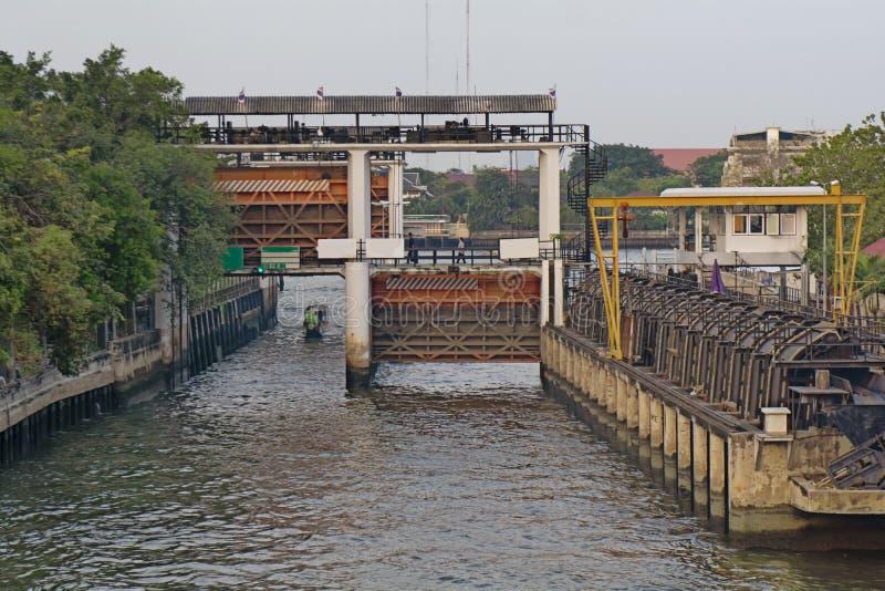 LA TAILANDIA BANGKOK Fiume fotografia stock libera da diritti