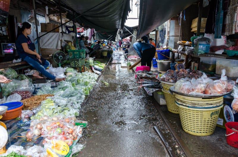 La Tailandia, ottobre 2015 - Samut Songkhram (Maeklong) immagine stock