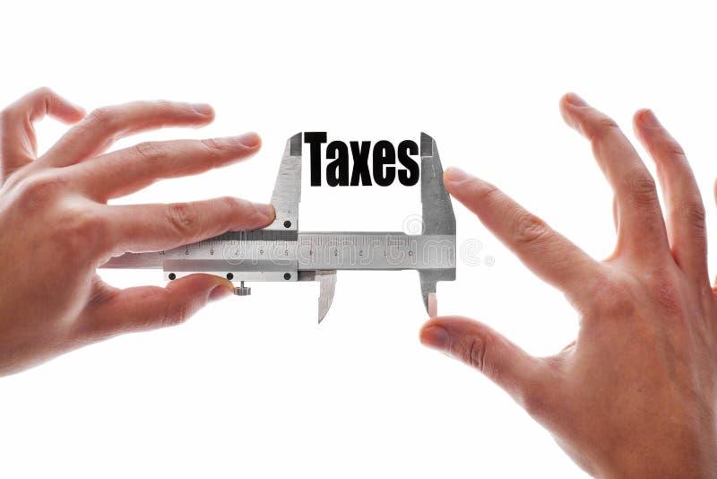 La taille de nos impôts image stock