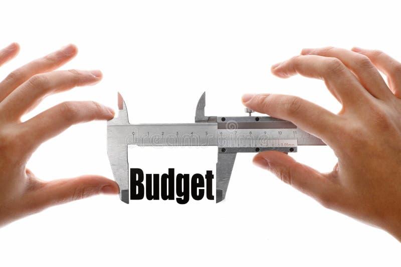 La taille de notre budget images libres de droits