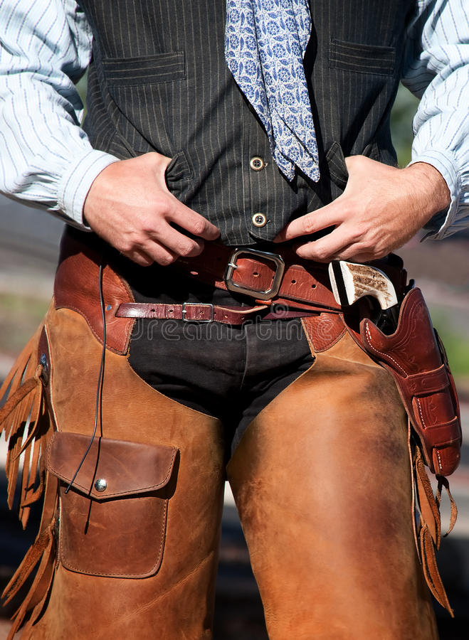 La taille du cowboy photographie stock libre de droits