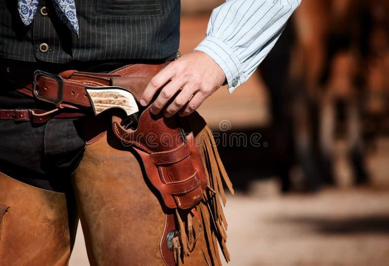 La taille du cowboy images libres de droits