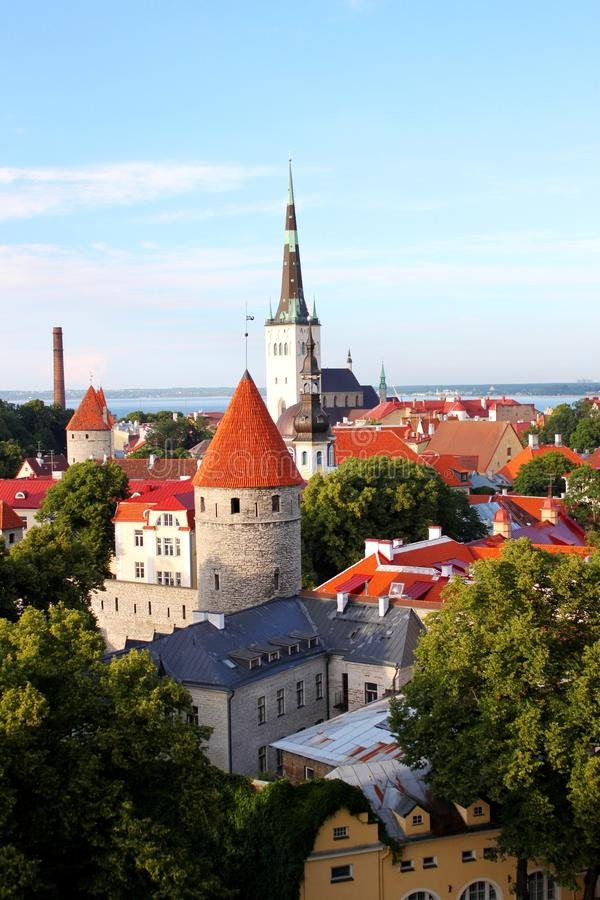 La Tallinn vieja imagen de archivo