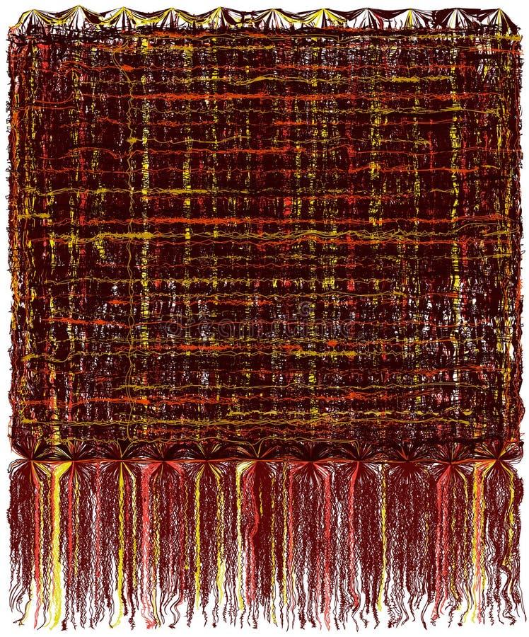La tapicería decorativa con grunge rayó el modelo ondulado y la franja mullida larga en colores marrones, amarillos, anaranjados libre illustration