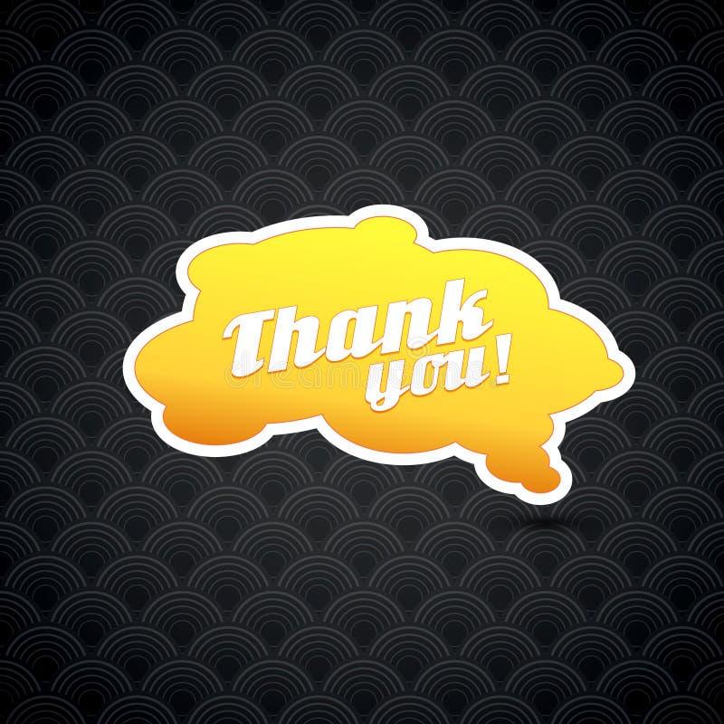 La tarjeta amarilla con le agradece firmar. libre illustration