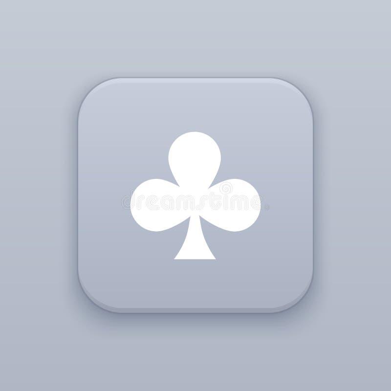 La tarjeta, clubs abotona, el mejor vector stock de ilustración