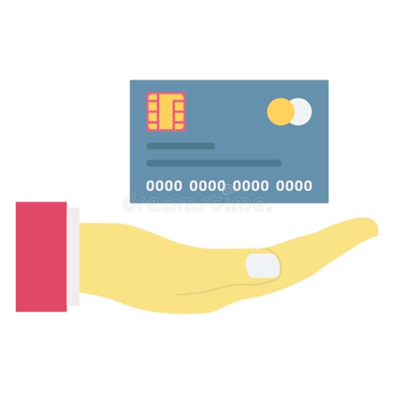 La tarjeta de banco, tarjeta de crédito aisló el icono del vector que puede ser corregido fácilmente libre illustration