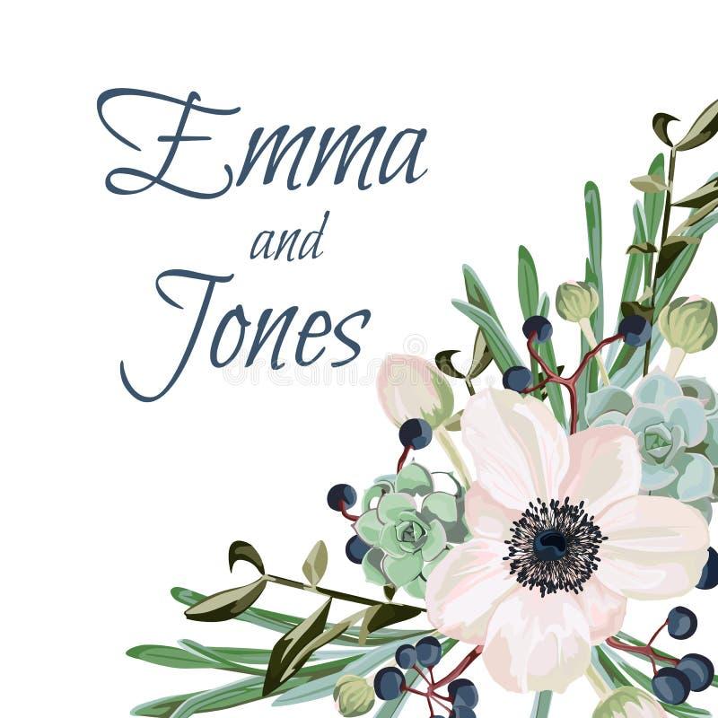 Tarjeta De Felicitación Con Las Flores Invitaciones O Avisos