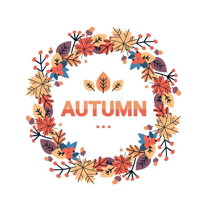 La tarjeta de felicitación tradicional del día de fiesta de la cosecha de la acción de gracias del otoño feliz del día aisló el p ilustración del vector